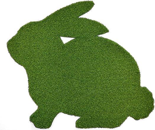 Always Greener Bunny Synthetic Grass Doormat Rug Wall Decor