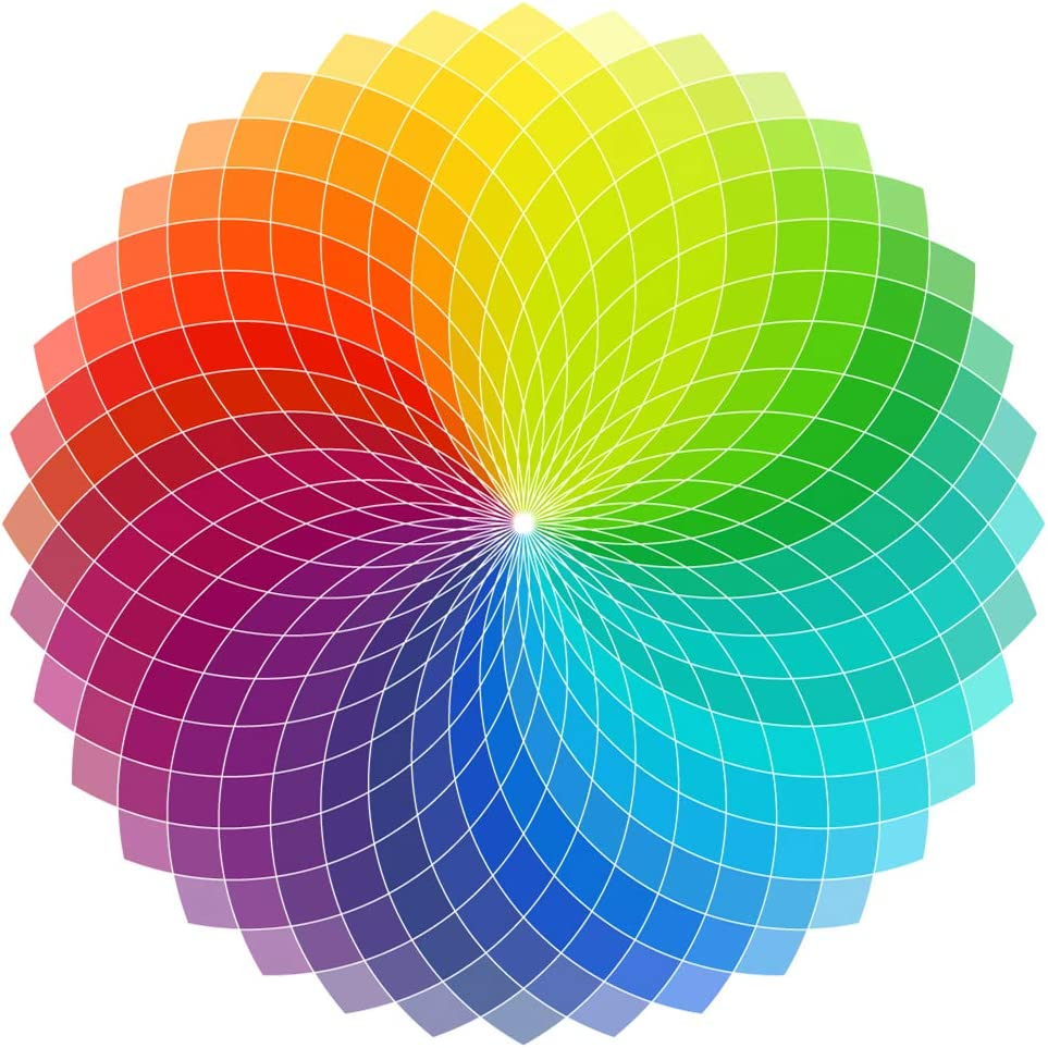 Color Wheel Puzzle Puzzles for Adults 1000 Pieces Round Jigsaw Puzzles
