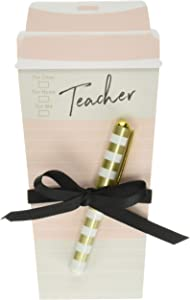 Lady Jayne Teacher Coffee Cup Notepad with Pen (11896)