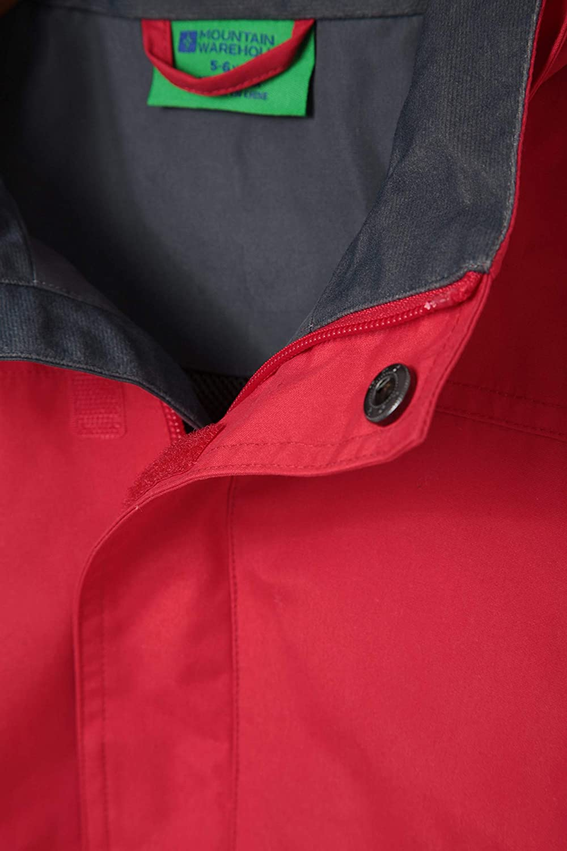 pour la Marche Durable Manteau de Pluie imperm/éable Rabat-temp/ête Mountain Warehouse Veste pour Enfants Orbit Poches s/écuris/ées