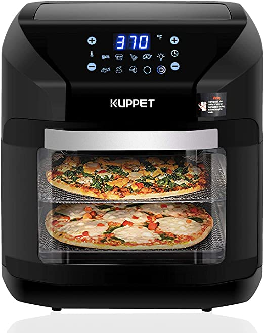 Oven Rotisserie Large Capacity 1800W Electric Air Fryer with 8 Cooking Presets