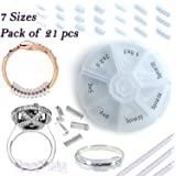 Assorted Ring size reducers Ring Snuggies Snugs clip Guard RESIZER ADJUSTERS Pack of 21pcs, 7sizes / Including New Spiral Style