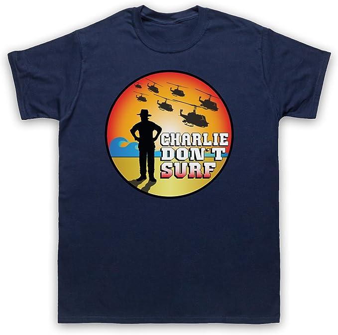 Inspirado por Apocalypse Now Charlie Dont Surf No Oficial Camiseta para Hombre: Amazon.es: Ropa y accesorios