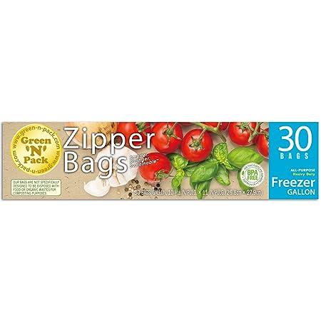 Green N Pack Zipper Food Freezer Bags (Gallon)