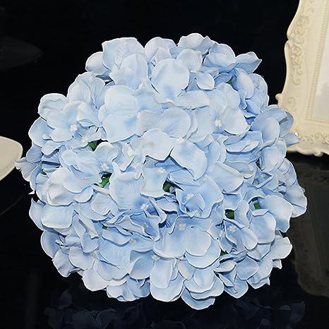 Matrimonio Azzurro Ortensia : Pezzi artificiale ortensia mazzo bridal seta foglie di fiori