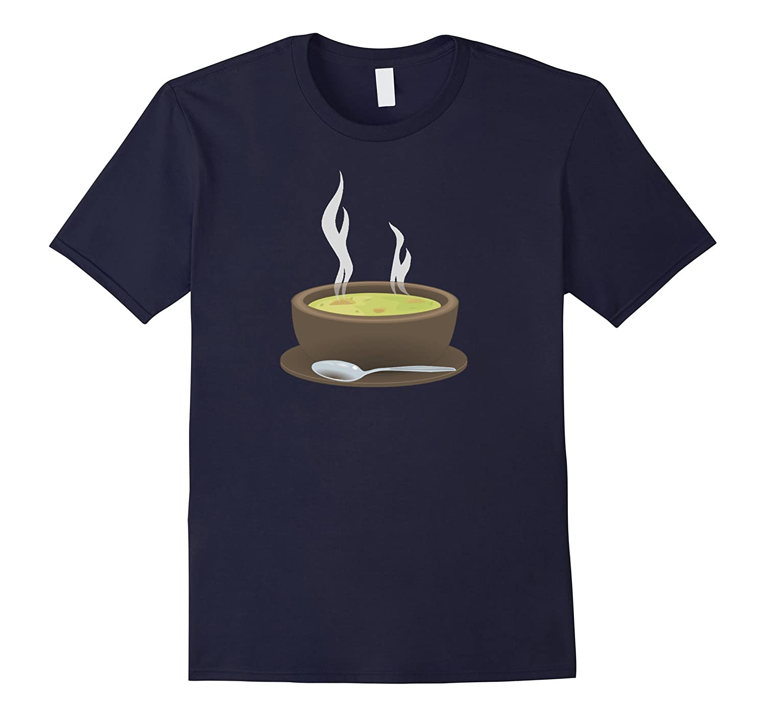 Bowl of Hot Soup T-Shirt Chicken Noodle Split Pea-Vaci