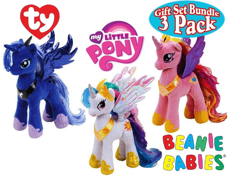 Ty My little Pony Princess Celestia, Cadance, and luna Set by My Little Pony