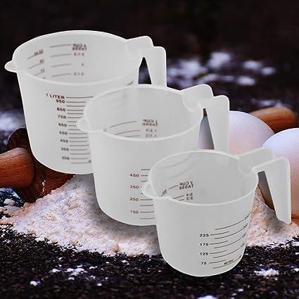 Messkanne Messbecher Maßbecher 1L Kunststoff transparent 1000ml Henkel