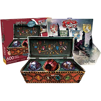 Aquarius Harry Potter Quidditch 600 Piece 2 Sided Die Cut Jigsaw Puzzle: Artist Not Provided: Toys & Games