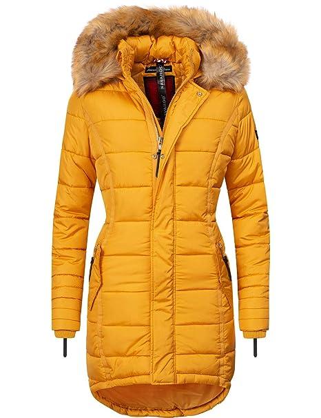 best website 47193 9b5d6 Navahoo Damen Winter Mantel Steppmantel Papaya 17 Farben XS-XXL