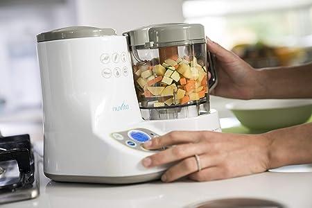 Nuvita 1966 Pappasana Vapor Combo 2 Robot de Cocina para Bebé 6 en 1 – Bate, Cuece al Vapor, Homogeniza, Descongela - Calentador de Biberón - Esterilizador – Pantalla Digital - Diseño Italiano: Amazon.es: Bebé