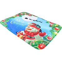BESPORTBLE Merry Christmas Floor Mat Anti Skid Cartoon Snowman Water Absorbent Floor Rug Holiday Low Profile Floor Mat…