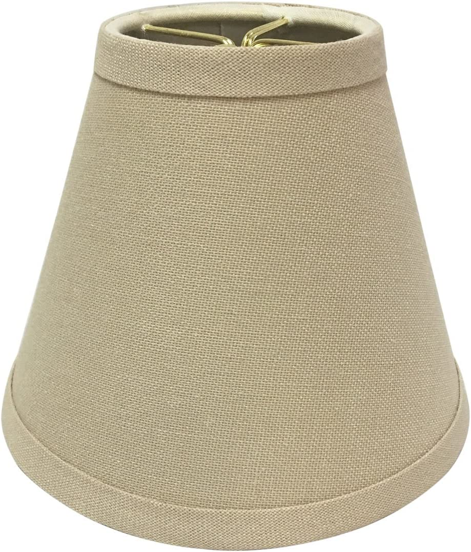 Royal Designs CS-998-6LNBG-6 Hardback Empire Chandelier Lamp Shade 6 Pack , 3 x 6 x 4.5 , Linen Beige