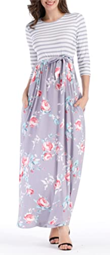 Corala -  Vestito  - linea ad a - Donna Grau 34