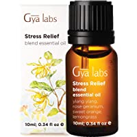 Gya Labs Stress Relief Essential Oil Blend - Rose Geranium and Ylang Ylang for Stress Relief and Calming Relaxation…