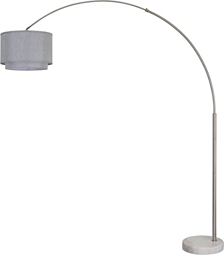 Major-Q 99-6938DS-GY Bedrooms Modern 81″ Arc Tall Floor Living Room-Stand Up Arching Lamp