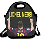 ScutLunb Lunch Bag Barcelona Lionel Messi Lunch Tote Lunch Box For Women Men Kids With Adjustable Strap
