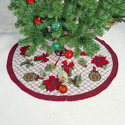 CLEAVE WAVES Faldas de árbol de Navidad, Decoraciones de Falda de ...