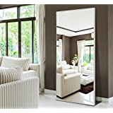 """H&A 65""""x24"""" Full Length Mirror Bedroom Floor Mirror Standing or Hanging (White)"""
