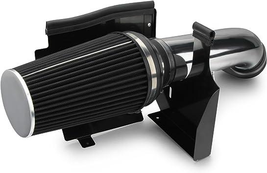 Cold Heat Shield Air Intake BLACK Filter for 99-06 Sierra 1500 2500 3500 V8