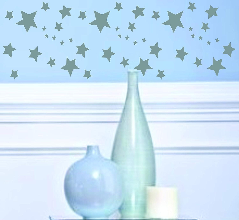 Schablone mit Sternenmotiv, Sternenmotiv, Sternenmotiv, wiederverwendbar, groß, Sterne, Himmelblau, Allover-Muster, für Papierprojekte, Scrapbook, Tagebuch, Wände, Böden, Stoff, Möbel, Glas, Holz usw. L B07J5WCCLG | eine große Vielfalt  481816