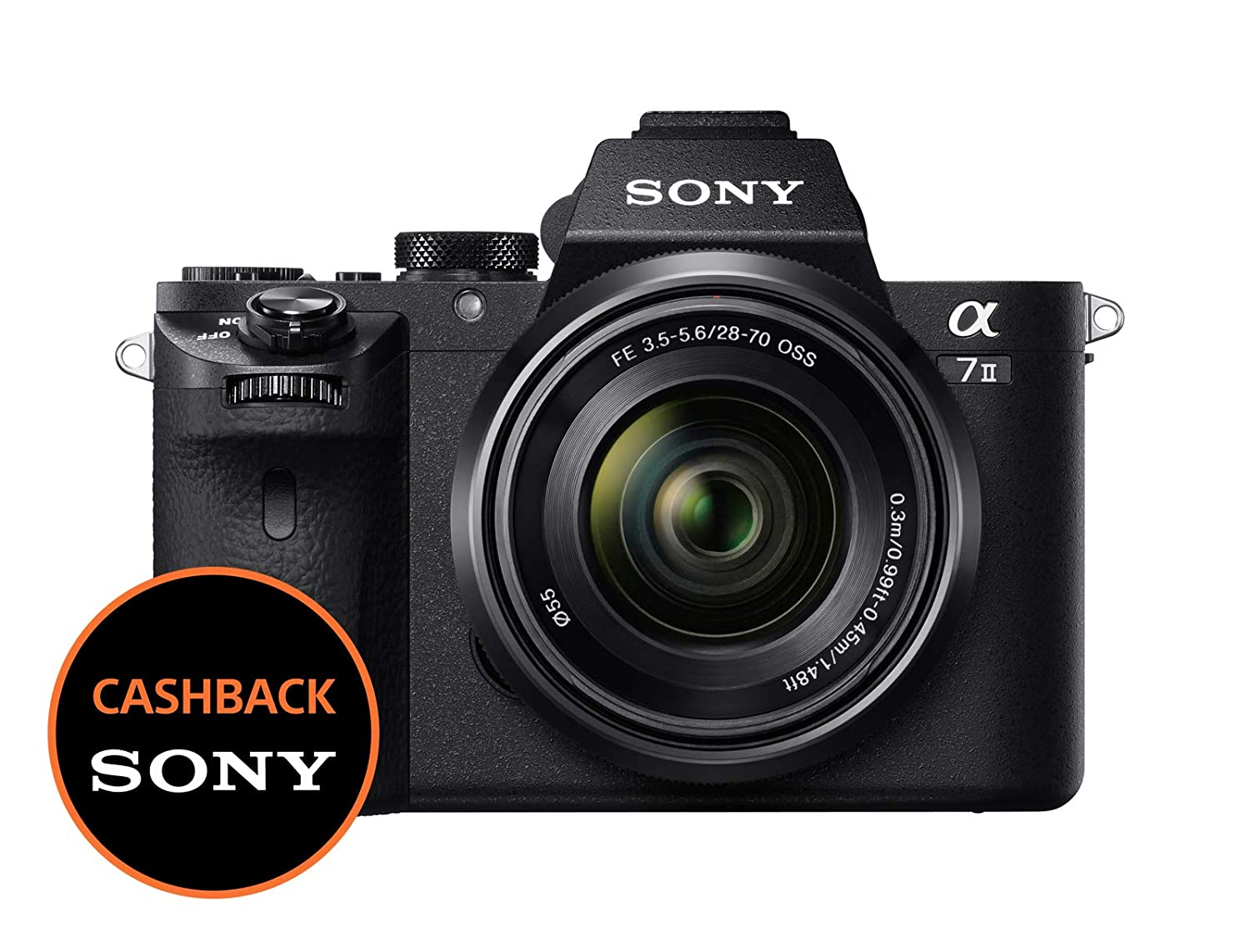 Sony Alpha 7M2K Kit Fotocamera Digitale Mirrorless Full-Frame con Obiettivo Intercambiabile SEL 28-70 mm, Sensore CMOS Exmor Full-Frame da 24.3 MP, Stabilizzazione Integrata a 5 Assi, Nero