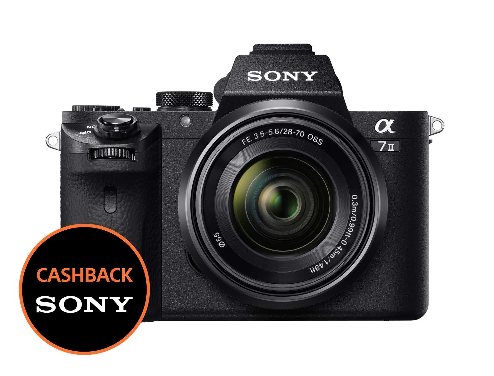 Sony Alpha 7M2K Kit Fotocamera Digitale Mirrorless Full-Frame con Obiettivo Intercambiabile SEL 28-70 mm, Sensore CMOS Exmor Full-Frame da 24.3 MP, Stabilizzazione Integrata a 5 Assi, Nero product image