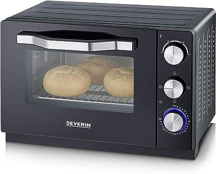 Severin TO 2070 - Horno tostador, 100-230 °C, 1380 W, 20 L. negro