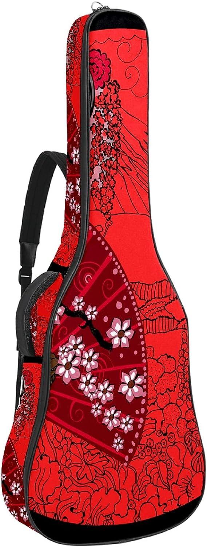 Estuche para guitarra 42.9 pulgadas guitarra acústica en estilo moderno estuche impermeable para guitarra mochila para guitarra acústica Mujer japonesa 42.9x16.9x4.7 in