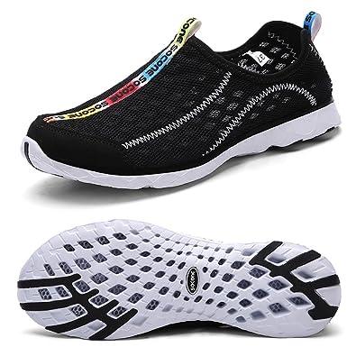 Women's Slip On Sneaker Mesh Casual Sports Walking Beach Aqua Swimming Pool Water Shoes