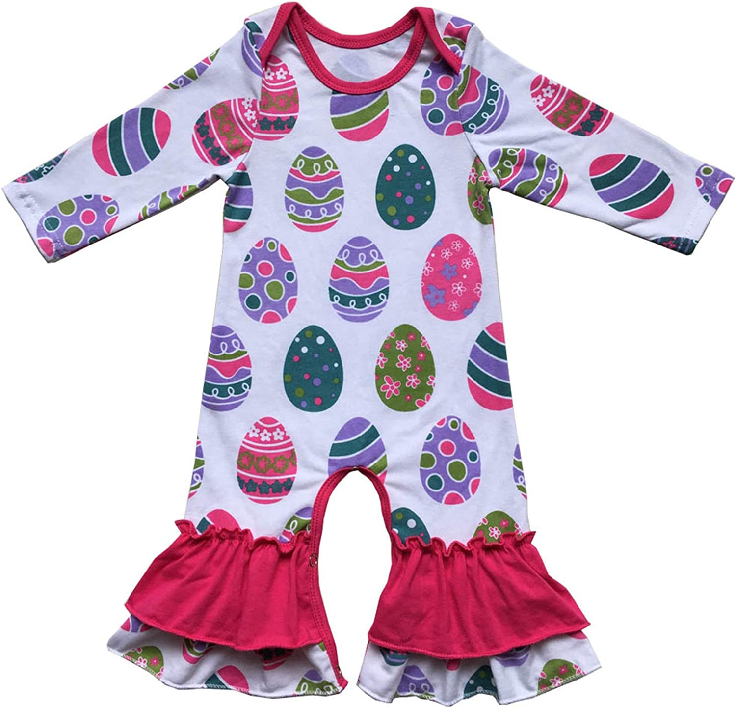 Valentines Day Easter Day Girls Gown Clothing Icing Ruffle Baby Girls Romper