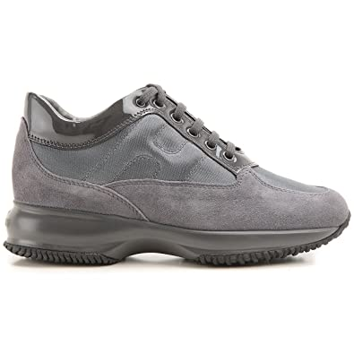 a18dc1b65e Hogan Interactive Suede Sneakers Grigio HXW00N0001035X: Amazon.co.uk: Shoes  & Bags