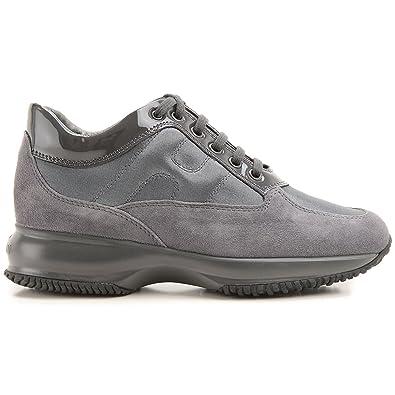 Hogan Interactive Suede Sneakers Grigio Donna  Amazon.co.uk  Shoes ... c23562712a3