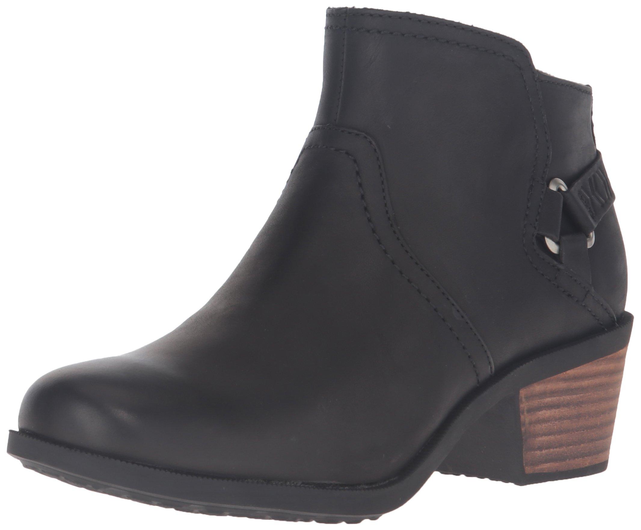 Teva Women's W Foxy Leather Boot, Black, 7.5 M US