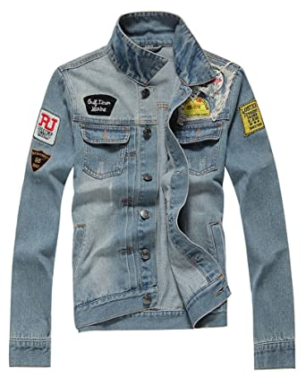 AvaCostume Men's Classic Lightweigth Jean Jacket Coat at Amazon ...