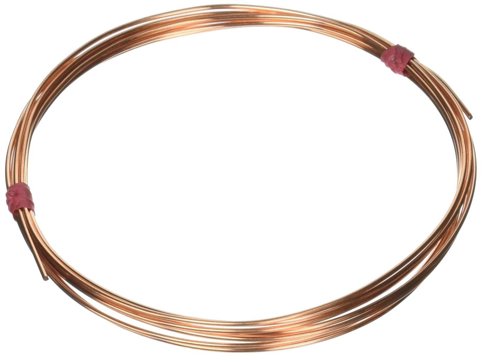 Amazon.com: Solid Copper Wire 16 Gauge Half Round Dead Soft (1 Oz ...
