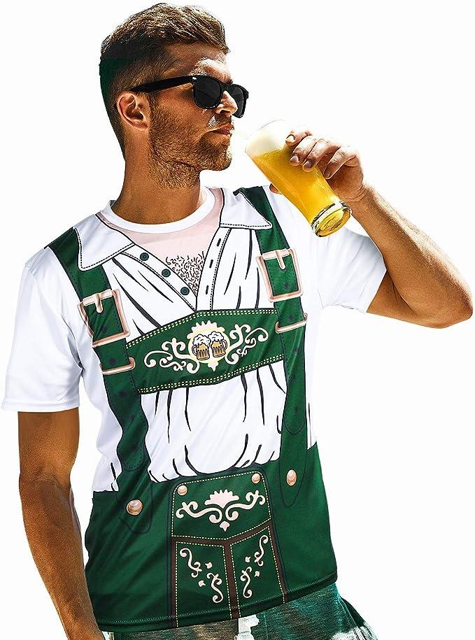Alemán de Hombre Disfraz de Oktoberfest Bávaro Lederhosen 3D ...
