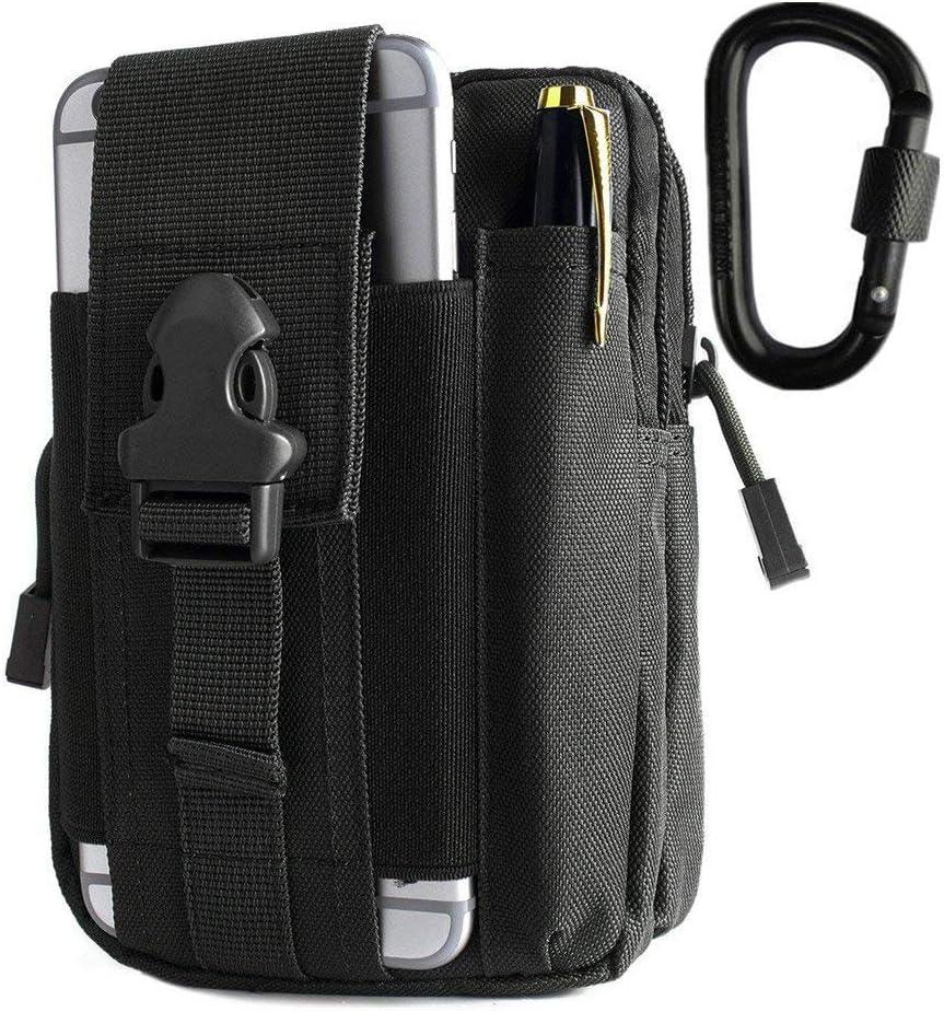 Shuweiuk Universal - Bolsa de cinturón, multifunción, capacidad grande, EDC, para Smartphone, accesorios, dispositivos y billetes