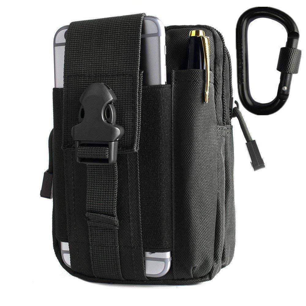 BeGrit Universale Multiuso capacità Oversize edc Borsa Tattici Sacchetti Smartphone Holster Security Pack Carry Kit di Accessori Pouch Passanti Marsupio Gadget Tasca per Banconote Shuweiuk