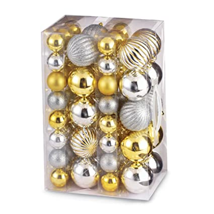 Amazon Com Collections Etc Shatterproof Gold And Silver Christmas