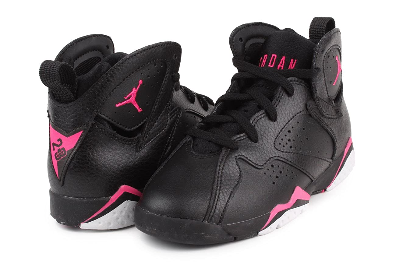 cce2b5fdf96 Amazon.com | Nike Jordan 7 Retro GP Girls Fashion-Sneakers 442961-018_11.5C  - Black/Hyper Pink-Hyper Pink/Blue | Basketball