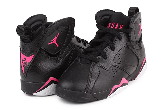 Amazon.com | Nike Jordan 7 Retro GP Girls Fashion-Sneakers 442961-018_11.5C - Black/Hyper Pink-Hyper Pink/Blue | Basketball