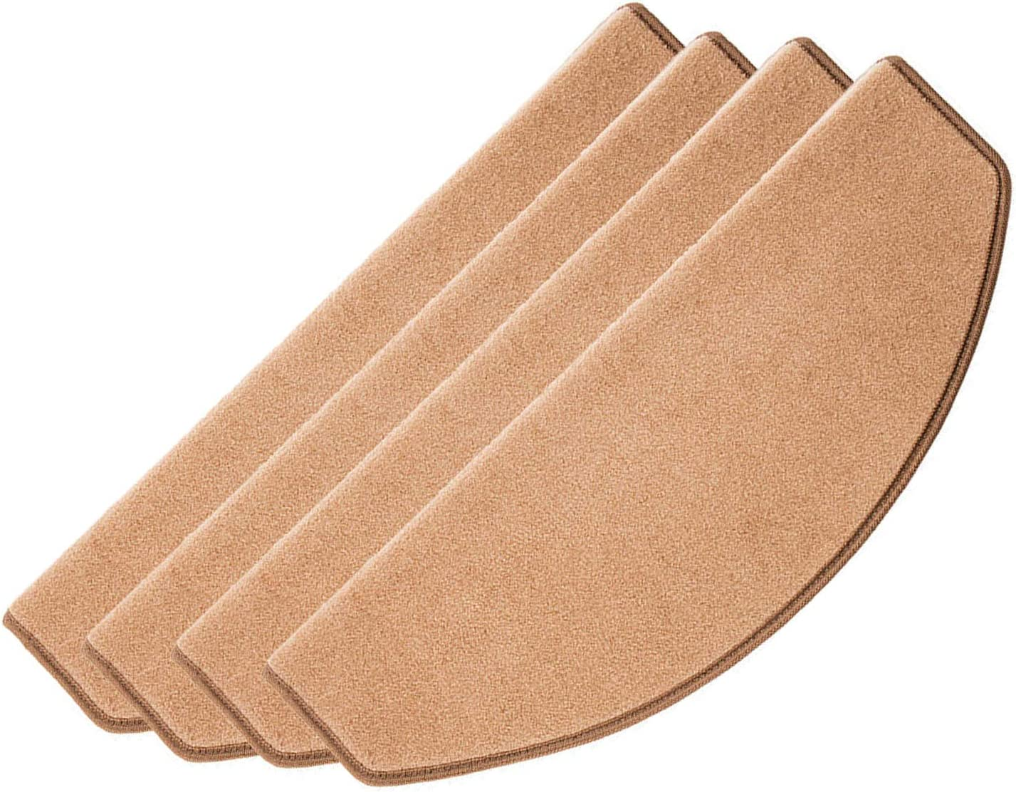 16 Pcs Adhesive Carpet Stair Treads Mats Pad Non-slip Step Protection Rug Grey