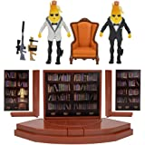 Fortnite Agent's Room Agent Peely, Includes 2 (4-inch) Articulated Agent Peely Figures, Playset with Secret Passageway, Legen