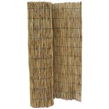 HYF Cerca de caña Natural pelada y Tejida, cañizo de bambú de caña Fina para