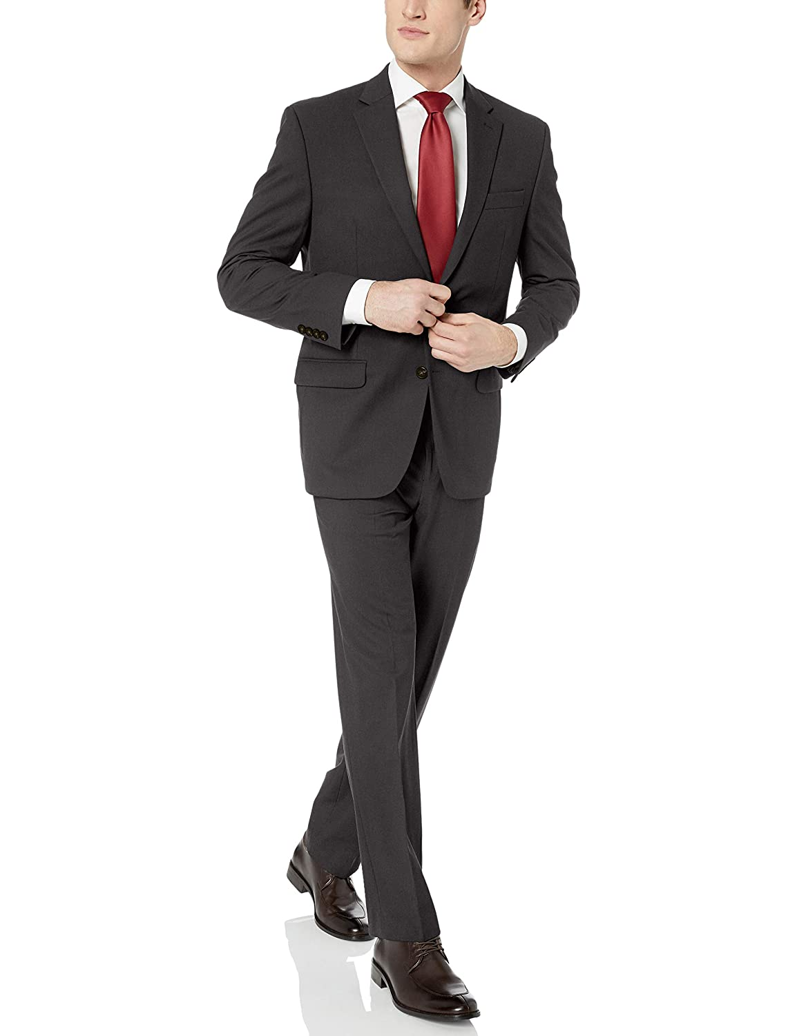 Blazer and Pant Chaps Mens All American Classic Fit Suit Separate Blazer Charcoal 48 Regular