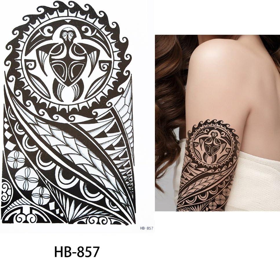 Hombres Tribal Tattoo Negro hb857 brazo tatuaje pegatinas Maorí y ...
