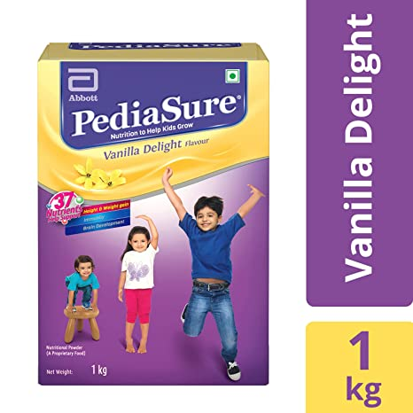 PediaSure Health & Nutrition Drink Powder for Kids Growth - 1kg (Vanilla) Nutrition Bars & Drinks at amazon