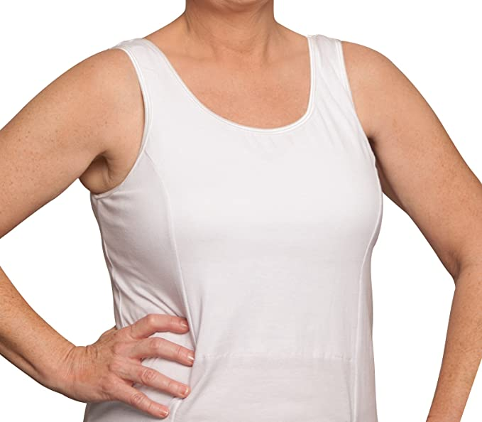 6171d52430573 Nearly Me -  520 Women s Post-Op Mastectomy Camisole (Available in White or  Black   Multiple Sizes) at Amazon Women s Clothing store