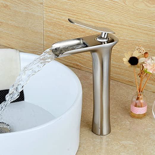 7 opinioni per Hiendure Rubinetto miscelatore monoleva Elegant, a Cascata, per lavabo